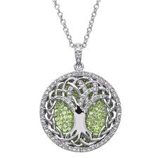 swarovski crystal chain necklace images Pendants necklaces shanore sterling peridot tree of life pendant jpg