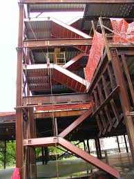 Stairs With Landing by Steel Structure Fabricator Steel Staircase Installation Ny