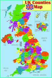 Counties Of England Map by Laminated Educational Wall Poster Uk Counties Map Gb Great