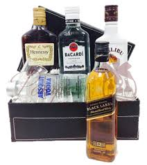 liquor gift baskets sle box liquor gift basket by pompei baskets