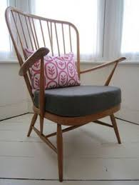 Ercol Armchair Cushions My Upcycled Retro Ercol Armchair Previously Dark Wood With Grotty