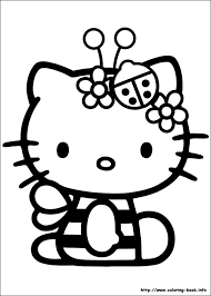 coloring pages kitty funycoloring