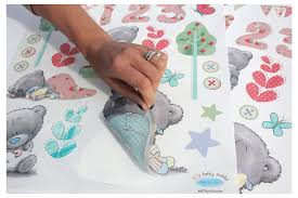 amazon com funtosee teddy bear nursery wall decals pastel baby
