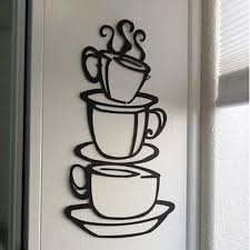 Coffee Cup Decoration Kitchen Best 25 Kitchen Wall Stickers Ideas On Pinterest Dining Room