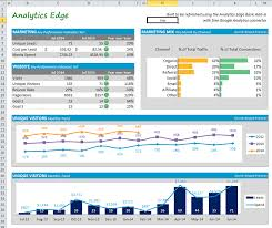 Dynamic Dashboard Template In Excel Building A Marketing Dashboard Analytics Edge Help