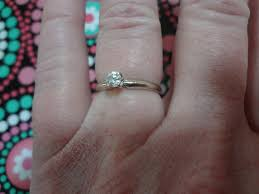 size 6 engagement ring 14k solitaire ring white gold engagement ring size 6 3 4