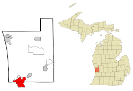 Mi County Map File Ottawa County Michigan Incorporated And Unincorporated Areas