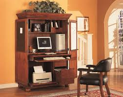Computer Armoire Desk Cabinet Interesting Brown Oak Wood Computer Desk Cabinet Steel Door Hinges