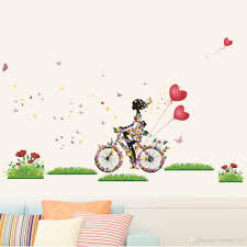 flower girl butterfly wall stickers colorful living room decor see larger image share on