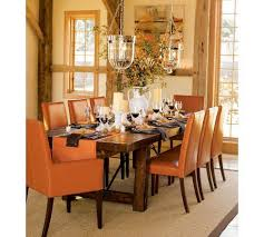 Fall Table Centerpieces by Wicker Chairs Round Crystal Chandelier White Fur Rug Glass Candle