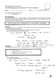 hire purchase worksheet u0027s answer hello