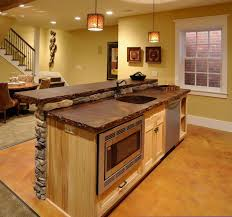 Rustic Kitchen Islands Home Design 79 Cool Rustic Kitchen Island Ideass