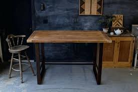 rustic high top table modern high top tables tall black maple wood dining table all modern
