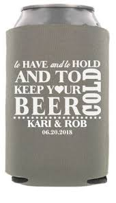 wedding koozie wedding can coolers totallyweddingkoozies