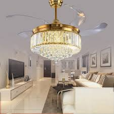 Fan With Chandelier Light Gold Chandelier Hanging Editonline Us