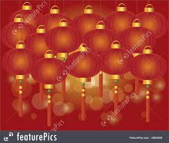 lunar new year lanterns holidays new year lantern background stock illustration