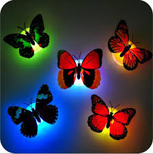 colorful butterfly wall led l fiber optic butterfly