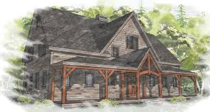 Farmhouse House Plans by Open Floor Plans For Timber Framed Homes