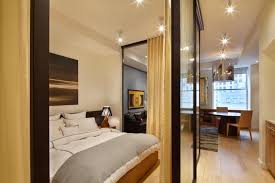 Decoration  Sliding Glass Room Dividers For Studio Apartments And - Contemporary studio apartment design