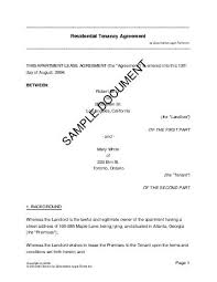 residential rental lease usa legal templates agreements