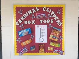box tops bulletin board ideas box top fundraising ideas
