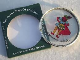 hong kong plastic tree ornaments set twelve days of