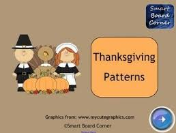 pattern games kindergarten smartboard thanksgiving patterns smart board lesson smart board lessons