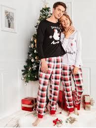 s plaid family pajama set rosegal