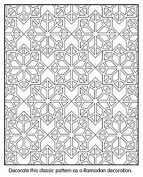islamic patterns coloring geometrik islamic