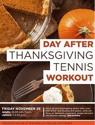 bellevue club thanksgiving weekend schedule