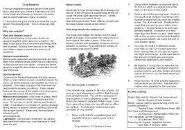 crop rotation teacher guide organic gardening
