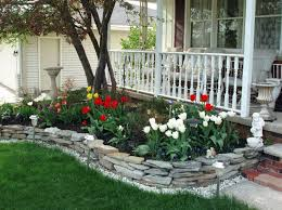 Backyard Flower Bed Ideas Backyard Amusing Front Yard Flower Beds Remarkable Green
