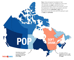 map of canada by province maps of canada showing what words you d hear in vs every
