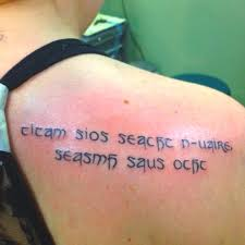 gaelic quotes for tattoos creativefan