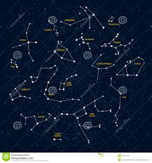 Map Of Constellations Sky Map Stock Vector Image Of Border Geographic Auriga 54419476