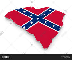 Confederate States Map by State Border Map Of South Carolina With The Rebel Confederate Flag