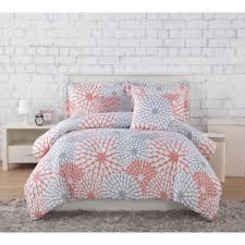 Comforter Project Generation Stella Coral Grey 5 Piece Full Queen Comforter
