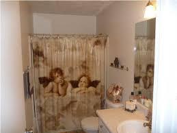 Shabby Chic Shower Curtain Hooks by Shower Curtain Two Angels Cherubs Bathroom Panama City Florida