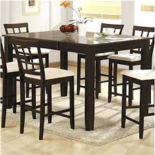 High Dining Room Tables Sets Table And Stools Set Espresso Counter Height Dining Bar Table