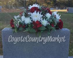 Christmas Decoration For Grave by Grave Flowers Etsy
