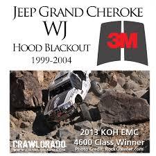 jeep cherokee decal grand cherokee wj hood blackout