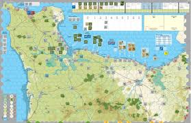 Normandy Map Gmt Games Normandy U002744 Reprint