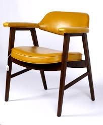 upholstered side arm chair by paoli 1976