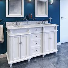 Marble Top Double Vanity Jeffrey Alexander Douglas Painted White Double Base Bathroom