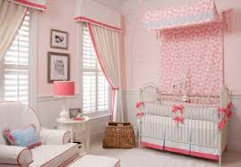 Light Pink Curtains For Nursery Pink Curtains For Baby Room Ideas For Transitional Nursery With