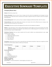 Sample Resume Executive Summary by Executive Summary Example Resume Free Resume Example And Writing