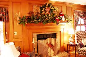 decorations simple fireplace christmas decor alongside leaves