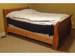 Pine Sleigh Bed Frame Pine Sleigh Bed Frame Riggins Design