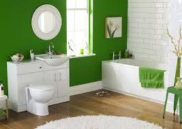 green and grey bathroom