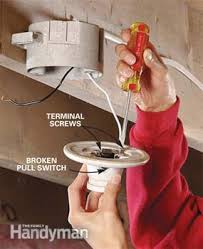 How To Change Out A Light Switch How To Replace A Pull Chain Light Fixture Family Handyman